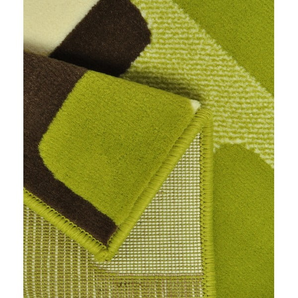Dywan Hamla Retro, 80x300 cm, zielony