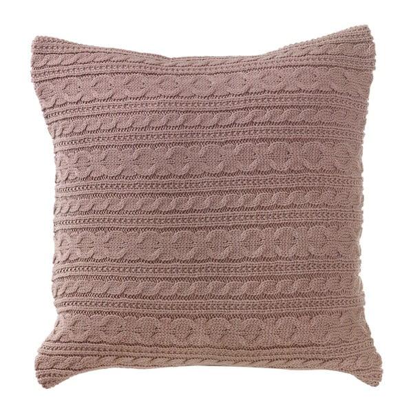 Dziergana poduszka z wypełnieniem Latté