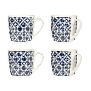 Zestaw 4 niebieskich kubków Premier Housewares Flower
