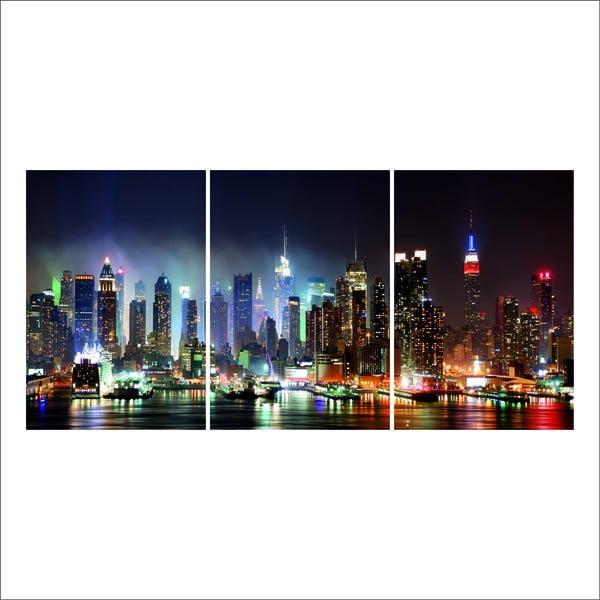 Zestaw 3 dekoracji ściennych CMT Glass Framework 139, 25x35cm