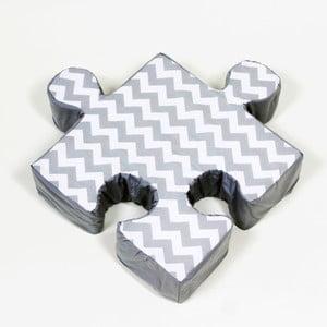 Szara poduszka Puzzle ZygZag