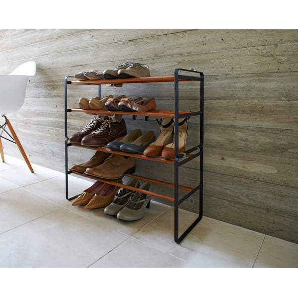 Półka na buty Yamazaki Shoe Rack 2, czarna