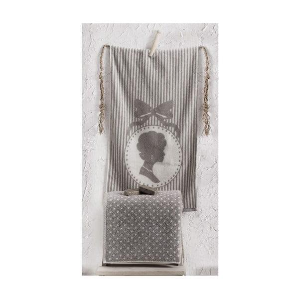 Zestaw 2 ręczników Bouguet Madam Stone, 50x90 cm i 90x145 cm