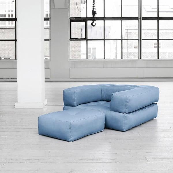 Fotel rozkładany Karup Cube Celeste