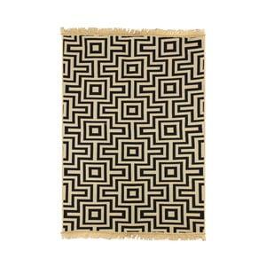 Granatowy dywan Ya Rugs Kare, 120x180cm