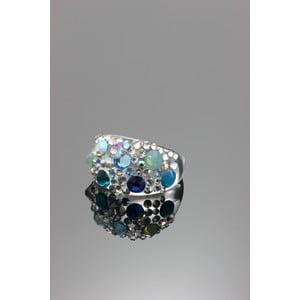 Pierścionek Ring Swarovski Elements Aqua, rozmiar L
