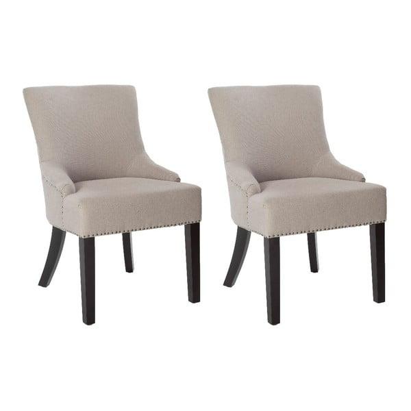 Zestaw 2 foteli Lotus Taupe