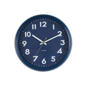 Niebieski zegar Present Time Badge