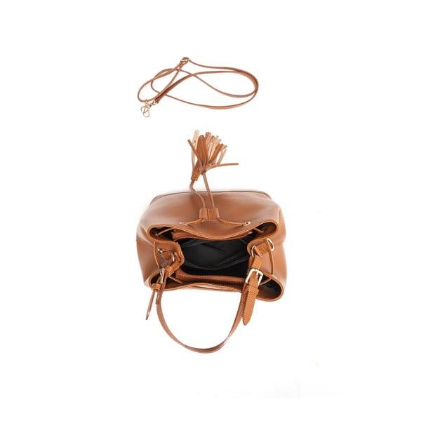 Skórzana torebka Renata Corsi 430 Cognac
