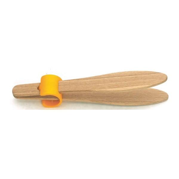 Drewniane szczypce do tostów Tongue Beech, 15 cm