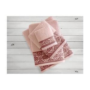 Łososiowy ręcznik Irya Home Felice, 30x50 cm