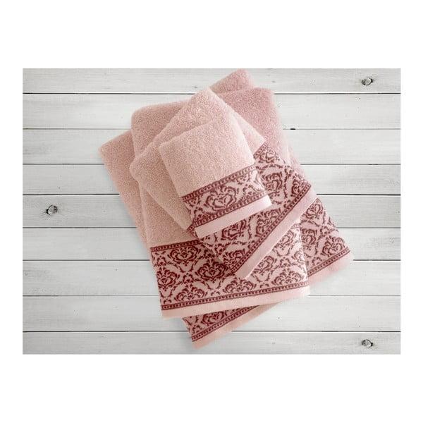 Łososiowy ręcznik Irya Home Felice, 70x130 cm