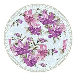 Zestaw 2 mat stołowych Purple Flowers