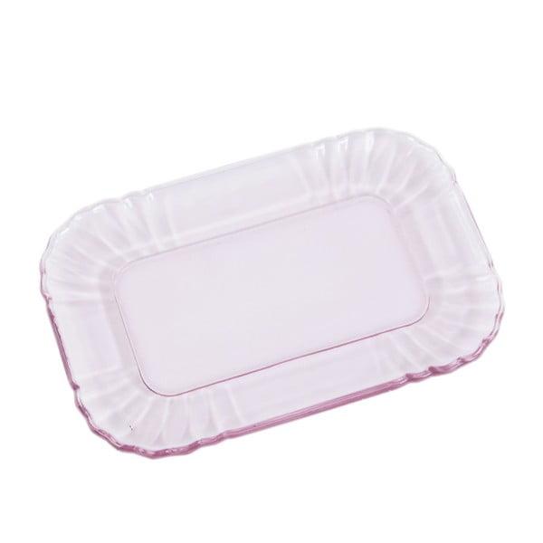 Szklany talerzyk Kaleidos, różowy