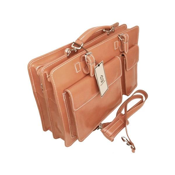 Skórzana torba Cortese, miodowa