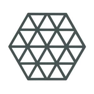 Szaro-zielona podkładka pod naczynia gorące  ZONE Triangles
