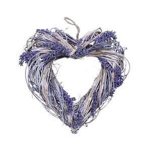 Wieniec dekoracyjny Ego Dekor Levand szerokie serce, 32cm