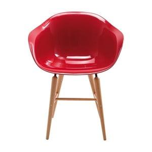 Czerwone krzesło z podłokietnikami Kare Design Forum