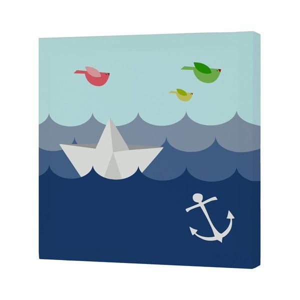 Obrazek Whale Ride, 27x27 cm