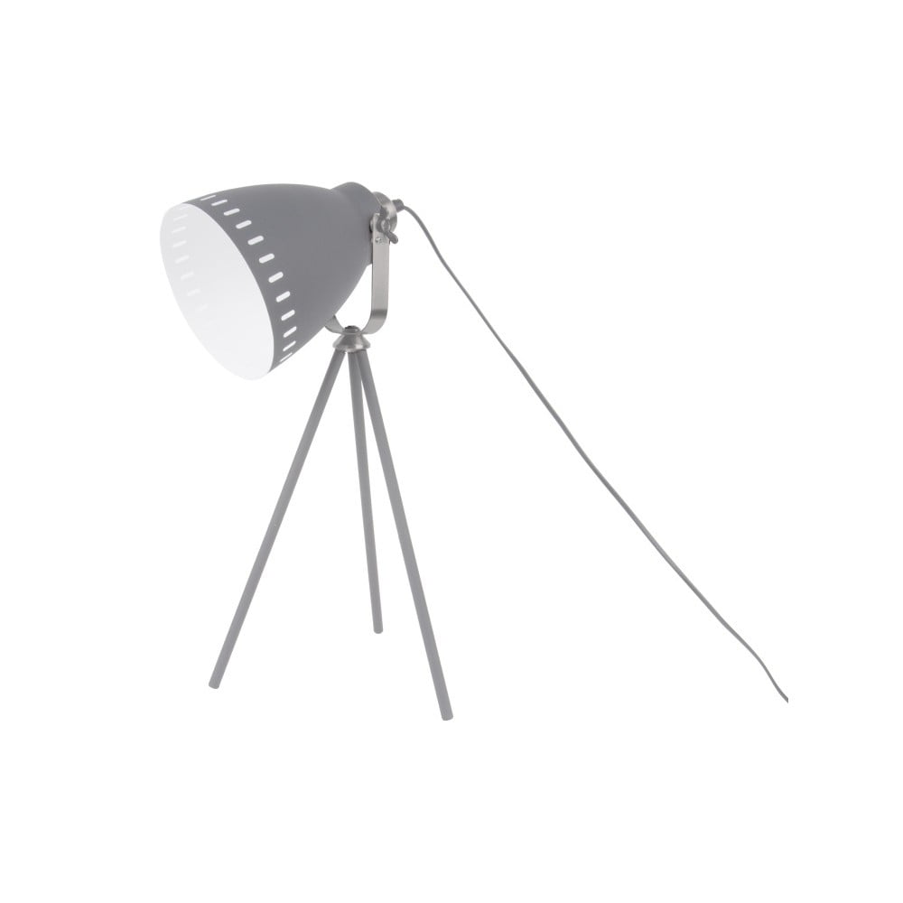 Szara lampa stołowa Leitmotiv Tristar
