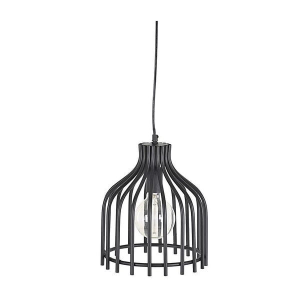 Metalowa lampa wisząca In Black, 24 cm