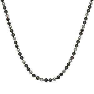 Perłowy naszyjnik Muschel, zielonobrązowe perły 8 mm, długość 42 cm