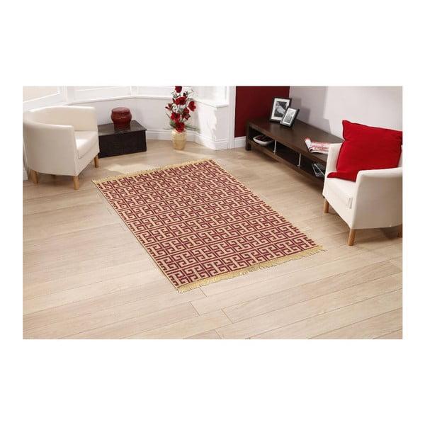 Czerwono-beżowy dywan Ya Rugs Tee, 120x180cm
