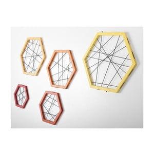 Rachetta Red and Yellow, zestaw 5 ram do przechowywania