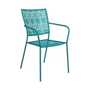 Ciemnoturkusowe krzesło z podłokietnikami Butlers Nancy