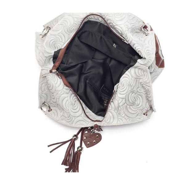 Skórzana torebka Mangotti 8002, szara