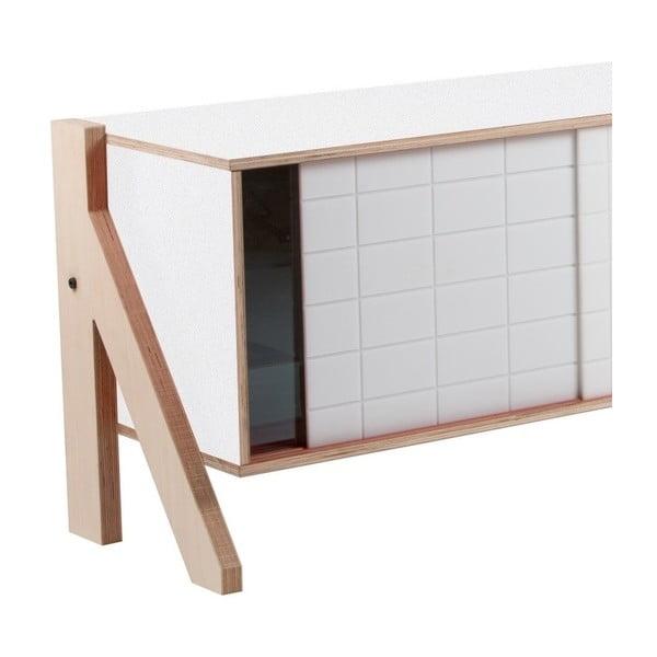 Biała komoda rform Frame, dł. 115 cm