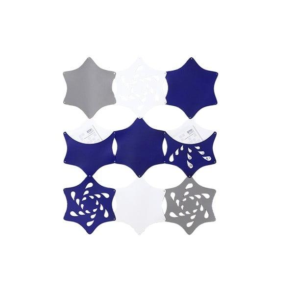 Filcowe kieszonki wiszące Kwiaty, niebieski/biały/szary
