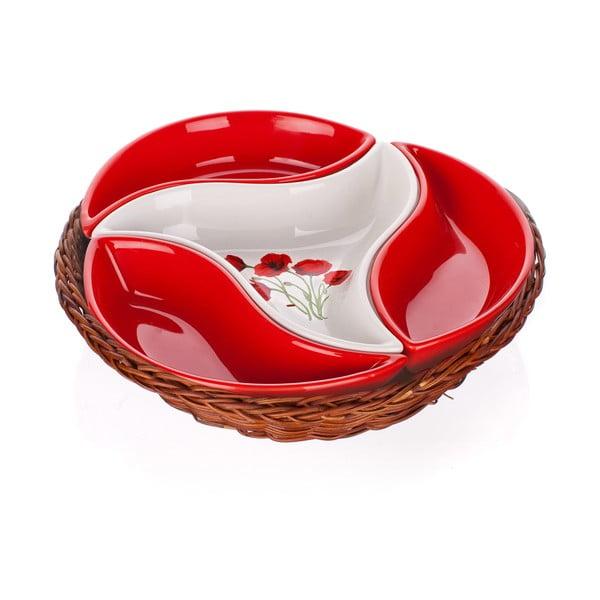 Miska w koszyku Banquet Red Poppy, 23 cm