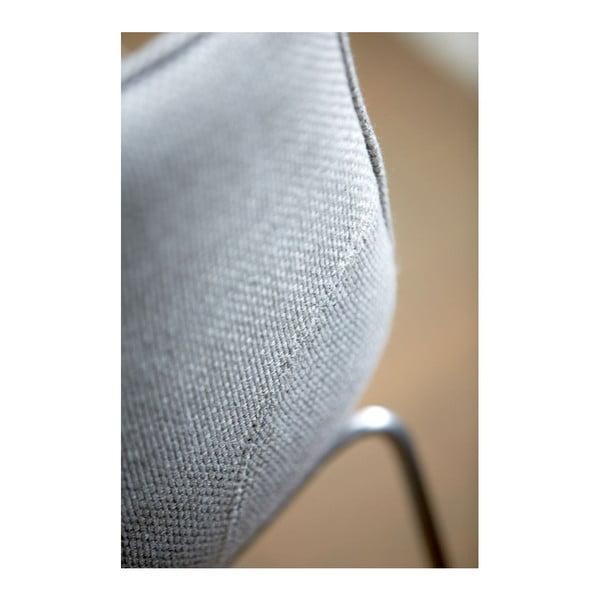 Zestaw 4 szarych krzeseł barowych Canett Delta