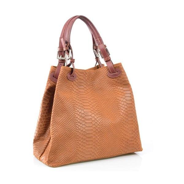 Skórzana torebka Ingrid, cognac