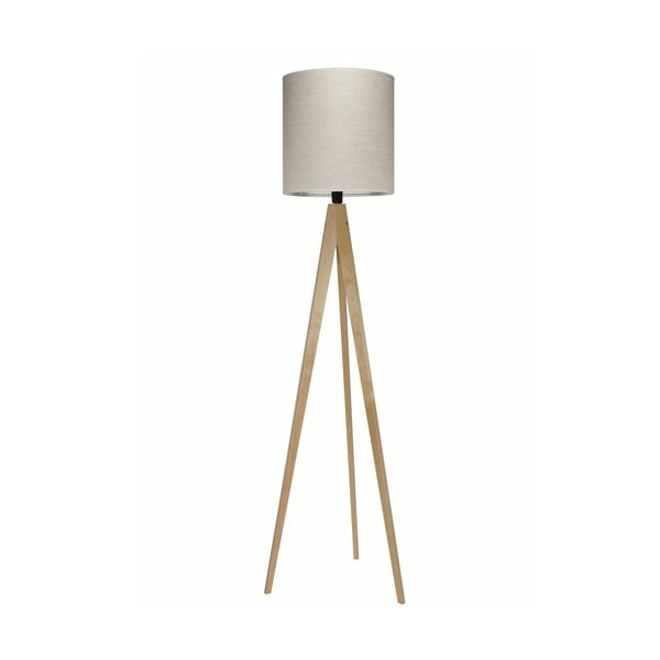 Lampa stojąca Artist Grey Linnen/Birch, 125x33 cm