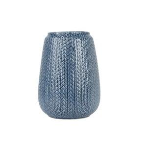 Duży niebieski wazon Present Time Knitted