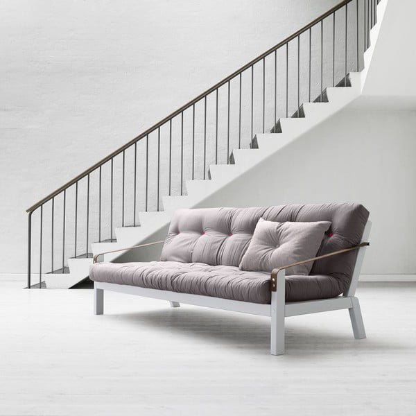 Sofa rozkładana Karup Poetry Cool Gray/Gris/Light Bordeaux