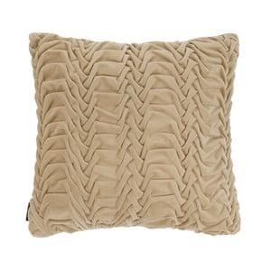 Beżowa poduszka ZicZac Glister, 45x45 cm