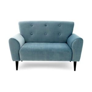 Jasnoniebieska sofa dwuosobowa Vivonita Klara