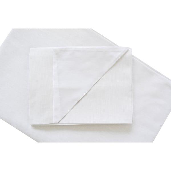Biała pościel Hawke&Thorn Parker Simple, 150x200 cm + poduszka 50 x 60 cm