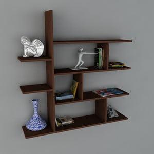 Półka Motif Book Wenge, 22x120x121,8 cm