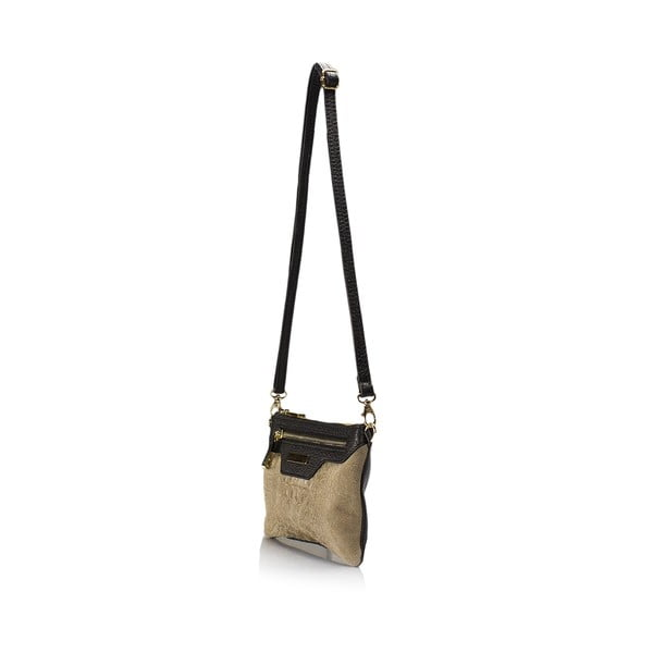 Skórzana torebka Croco, taupe