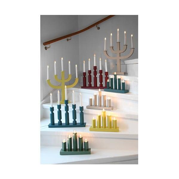Żółty świecznik LED Sala