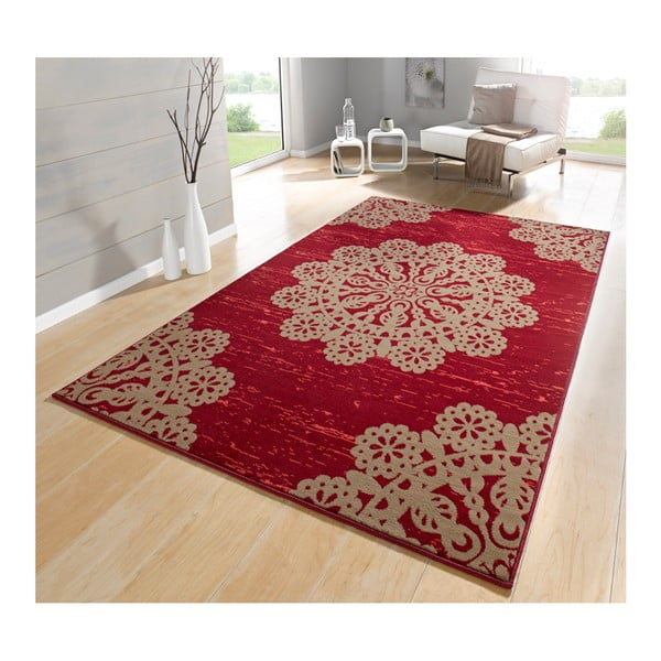 Czerwony dywan Hanse Home Gloria Lace, 120 x 170 cm