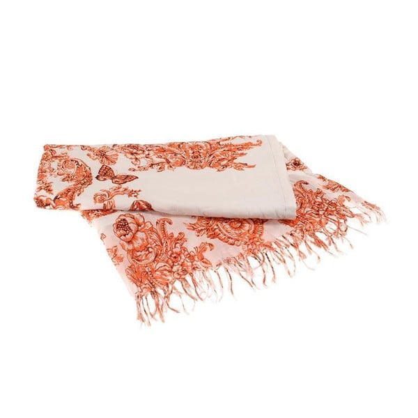 Dwustronny ręcznik plażowy BLE Inart 90x180 cm, pomarańczowy