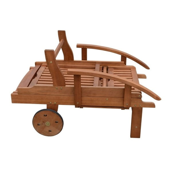 Ogrodowy leżak składany z drewna eukaliptusowego ADDU Beverly Hills