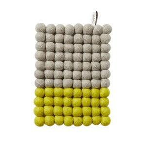 Wełniana podkładka Trivet Grey/Lemon, 22x17 cm