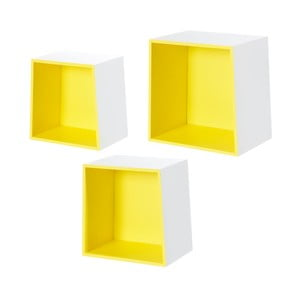 Zestaw 3 półek ściennych Furniteam Design