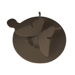Silikonowa pokrywka na kubek Butterfly, brązowe